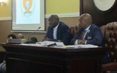 Kholekile Lange (left) being sworn in as Speaker of the Walter Sisulu Municipality council. Picture: Walter Sisulu Local Municipality/Facebook