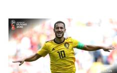 Belgium's Eden Hazard during 2018 Fifa World Cup match against Tunisia. Picture: Fifa World Cup Twitter