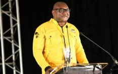 Gauteng Premier David Makhura delivers his political report at the provincial conference in Irene, Pretoria. Picture: Twitter/@GautengANC