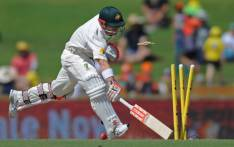 Australia's David Warner is run out on day four of the first Test cricket match between Australia and South Africa in Perth on 6 November 2016. Picture: AFP.