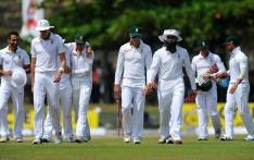The Proteas march off the field after winning the first Test against Sri Lanka in Galle. Picture: Official CSA Facebook Page