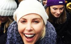 Charlize Theron seen during a Women's March at Sundance. Picture: Twitter/@CharlizeAfrica.