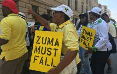 ANC members call for Jacob Zuma to step down on 5 February in Johannesburg. Picture: Ihsaan Haffajee/EWN