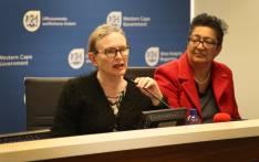 FILE:Western Cape Premier Helen Zille speaks about the province's drought relief budget. Photo: Bertram Malgas/EWN