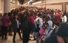 Commuters pack the Johannesburg Gautrain Station due to a taxi strike on 25 June 2018. Picture: Via @EWNTraffic/Twitter
