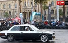 Aqeelah Sasman during a drifting session at the 2017 Drift City motor show in Cape Town. Photo: Bertram Malgas/EWN