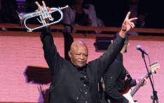 Hugh Masekela bows out after a performance on 4 April, 2014 in New York. Picture: AFP.