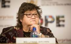 Minister of Public Enterprises Lynne Brown briefs the media on the state of Eskom at their offices in Woodmead. Picture: Thomas Holder/EWN