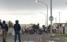 Protests are still underway in Parkwood. Residents are in a battle with law enforcement officials who broke down their structures on Wednesday morning. Picture: Kaylynn Pam/EWN