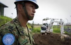 FILE: A Japanese engineer at work at the United Nations Mission in South Sudan, in Juba. Picture: United Nations Photo.