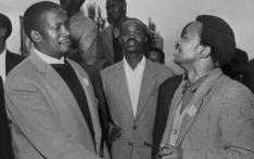 Undated picture of the South African Pan Africanist Congress (PAC) founder Robert Sobukwe (L) with Potlako Leballo (R), member of the PAC. Picture: AFP