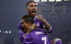 FILE: Real Madrid's Sergio Ramos and Cristiano Roanld celebrate a win. Picture: AFP