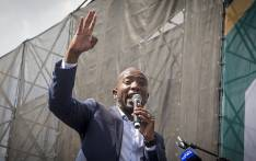 DA leader Mmusi Maimane addresses supporters at the Freedom Movement rally against the leadership of President Jacob Zuma in Pretoria on 27 April 2017. Picture: Reinart Toerien/EWN.