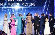 'Three Billboards Outside Ebbing, Missouri' castmates accept their award onstage during the 24th Annual Screen Actors Guild Awards at The Shrine Auditorium on 21 January 2018 in Los Angeles, California. Picture: AFP