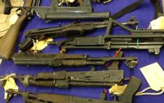 Guns seized by police. Picture: EWN.