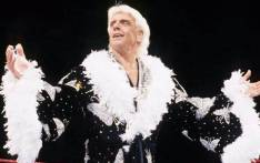 "FILE:  Ric Flair's management has asked for ""prayers and positive energy"" for the former wrestler after he was hospitalised over the weekend. Picture: Twitter/@TroydanGaming."