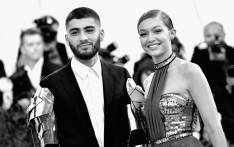 """FILE: Zayn Malik (L) and Gigi Hadid attend the """"Manus x Machina: Fashion In An Age Of Technology"""" Costume Institute Gala at Metropolitan Museum of Art on 2 May 2016. Picture: AFP"""