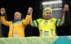 Nkosazana Dlamini-Zuma (R) at the Empangeni Town Hall in the Musa Dladla region of KZN to address an ANC Cadres Forum. Picture: @DlaminiZuma.