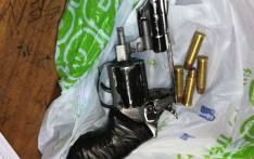 Officers in Cape Town arrested two people after they were found in possession of this illegal firearms and ammunition in Manenberg. Picture: @SAPoliceService