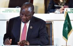 President Cyril Ramaphosa signs the Kigali Declaration in Kigali on 21 March 2018. Picture: Twitter/@GovernmentZA