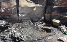 At least 50 shacks were destroyed at an informal settlement on the East Rand. Picture: Twitter/@SARedCross.