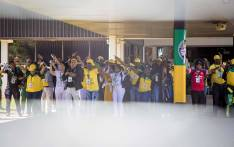 Members of the ANC sing and dance outside the plenary at the #ANC54 in Nasrec on 16 December 2017. Picture: Thomas Holder/EWN