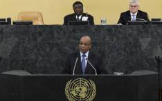 SA President Jacob Zuma addresses the 68th United Nations General Assembly at UN headquarters in New York on 24 September 2013. Picture: AFP/POOL/Brendan McDermid