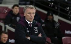 West Ham United's Scottish manager David Moyes gestures during the English Premier League football match between West Ham United and Leicester City at The London Stadium, in east London on 24 November 2017. Picture: AFP
