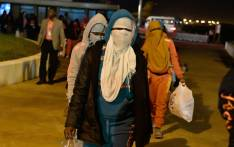 Ivorian migrants returning from Libya arrive at the airport of Abidjan on 20 November 2017. Picture: AFP