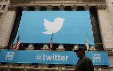 FILE: A banner with the logo of Twitter is set on the front of the New York Stock Exchange on 7 November, 2013 in New York. Picture: AFP
