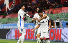 Kashima Antlers  players celebrate after beating Mamelodi Sundowns during the Fifa Club World Cup on 11 December 2016. Picture: ‏@ClubWorldCups.