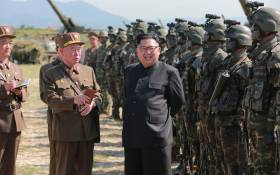 North Korea leader Kim Jong Un presides over a target strike exercise conducted by the special operation forces of the Korean People's Army (KPA) at an undisclosed location. Picture: AFP