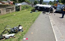Four children were killed after a taxi and bus collided in Durban on 11 January 2017. Picture: @Netcare911_sa