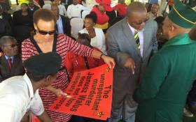 FILE: Wife of slain SACP leader,Chris Hani at the commemoration of his 1993 assassination on 10 April 2016. Picture: Vumani Mkhize/EWN.