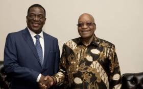 President Jacob Zuma met Emmerson Mnangagwa in Pretoria on 22 November 2017. Picture: GCIS.