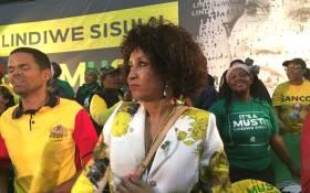 ANC presidential hopeful Lindiwe Sisulu at an event in Kliptown. Picture: Katleho Sekhotho/EWN.