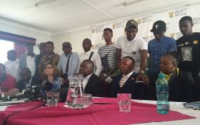 Minister of Higher Education Blade Nzimande spent the day in discussions with student leaders where they tabled their demands for the 2016 Fees Must Fall campaign. Picture: Emily Corke/EWN.