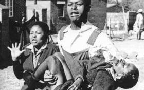 The iconic picture of Hector Pieterson being carried by Mbuyisa Makhubu. Picture: Supplied