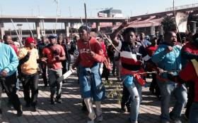 National Union of Metalworkers of South Africa (Numsa) members during a wage strike action in Johannesburg on 1 July 2014. Picture: Sebabatso Mosamo/EWN.