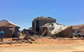 Some of the houses in Protea Glen Extension 31 which were destroyed by the severe hail storms which hit parts of Gauteng last week. Picture: Katleho Sekhoto/EWN.