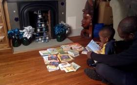Facebook screengrab of Caleb Green who read 100 books in a day.