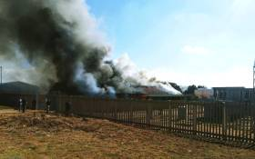 FILE: The Wapadrand Power Station in Pretoria on fire on 10 July 2018. Picture: @CityTshwane/Twitter
