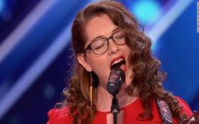 America's Got Talent contestant Mandy Harvey lost her hearing and uses vibrations to help her follow her dream to sing. Picture: CNN