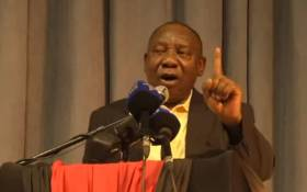 A video screengrab of Deputy President Cyril Ramaphosa.