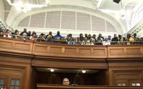 Serial killer Cameron Wilson sits in the dock of the Western Cape High court as he waits to hear his fate. Photo: Bertram Malgas/EWN