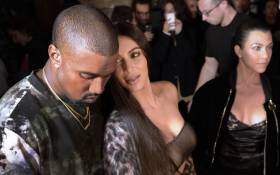 FILE: This file photo shows (From L) Kanye West, Kim Kardashian and Kourtney Kardashian attending the Off-white 2017 Spring/Summer fashion show. Picture: AFP.