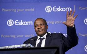 Eskom CEO Brian Molefe gestures during a press conference in Johannesburg on 3 November 2016. Picture: Reinart Toerien/EWN.