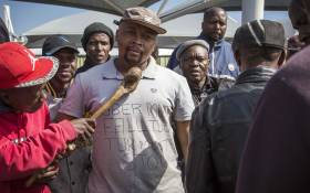 FILE: Metered taxi drivers met at the OR Tambo airport to discuss their way forward after they blocked main roads to the airport in protest against Uber. Picture: Thomas Holder/EWN.