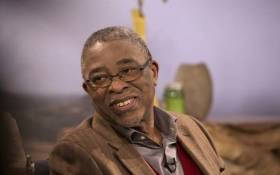 "Moeletsi Mbeki, a political analyst, speaks during talks ""Nation in Conversation"" at the Nampo Harvest Day Expo in Bothaville on 15 May 2018. Picture: AFP"