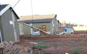 A damaged home in Protea Glen following a hailstorm on 30 December 2017. Picture: Leeto Khoza/EWN
